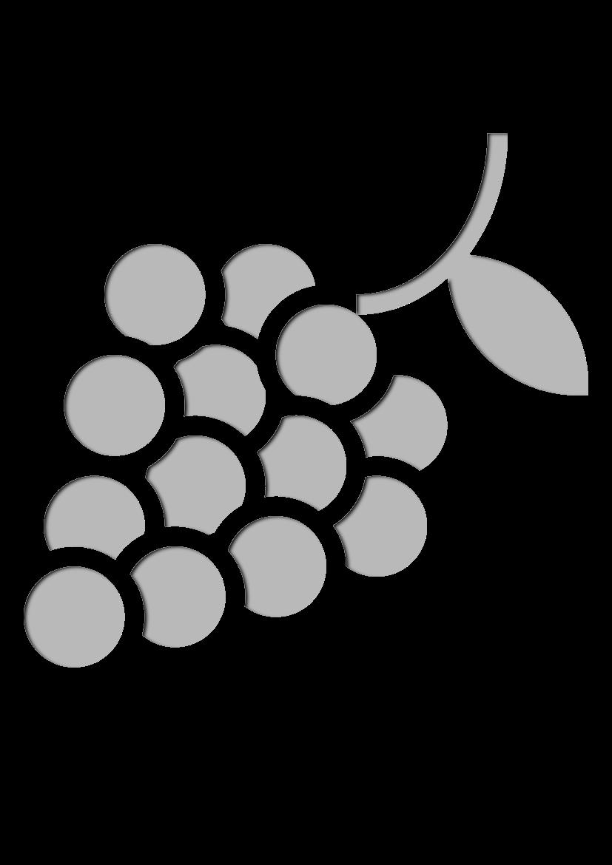 Pochoir Gastronomie Les raisins