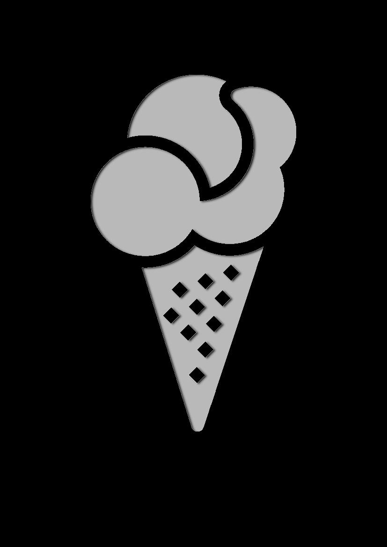 Pochoir Gastronomie Crème glacée