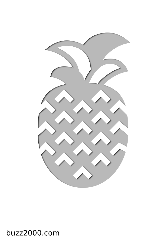 Pochoir Gastronomie Ananas
