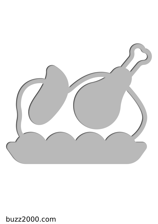 Pochoir Gastronomie Dinde