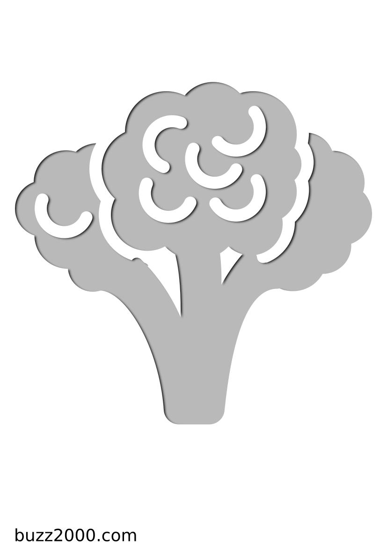 Pochoir Gastronomie Brocoli