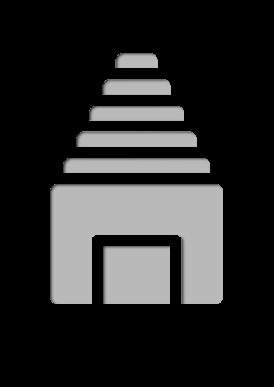 Pochoir Hindous Temple