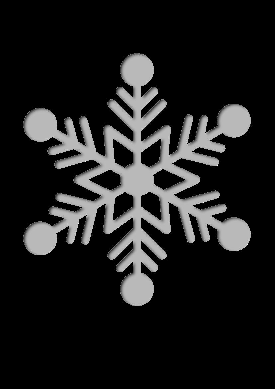 Pochoir Hiver Flocon de neige