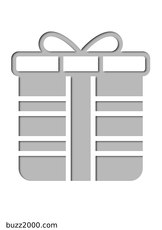 Pochoir Hiver Cadeau