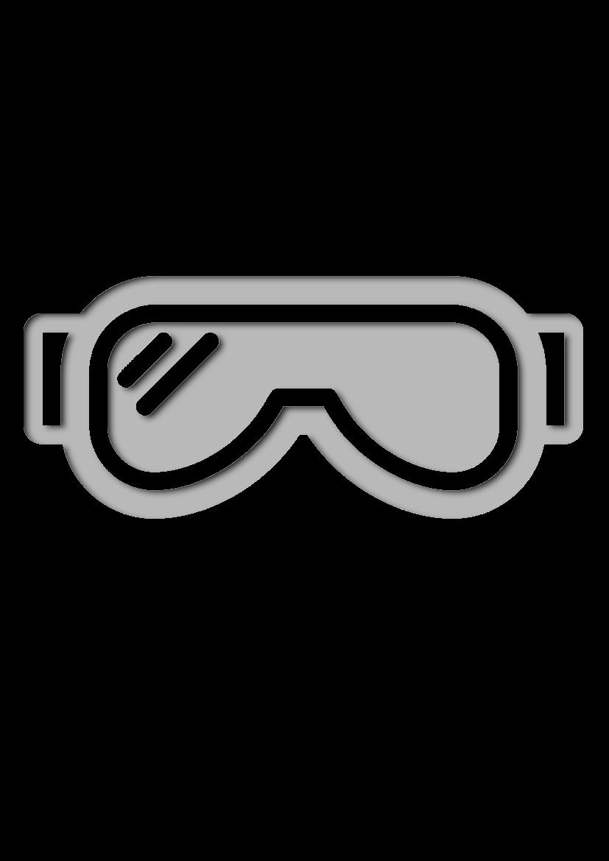 Pochoir Hiver Des lunettes