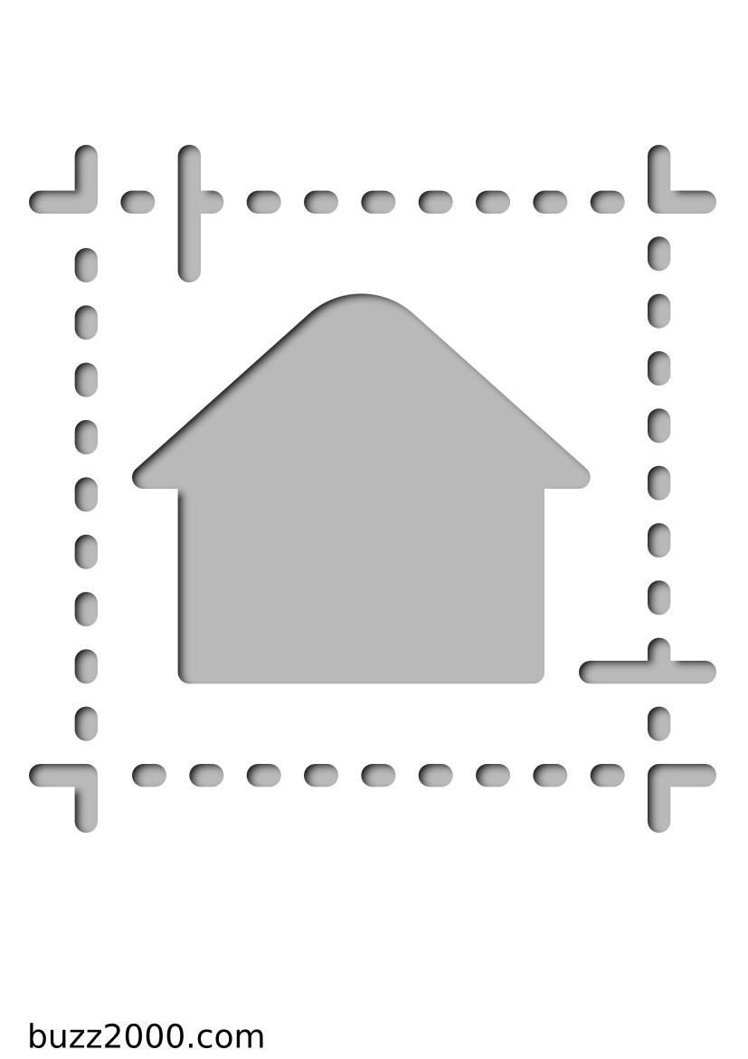 Pochoir Immobilier Plan