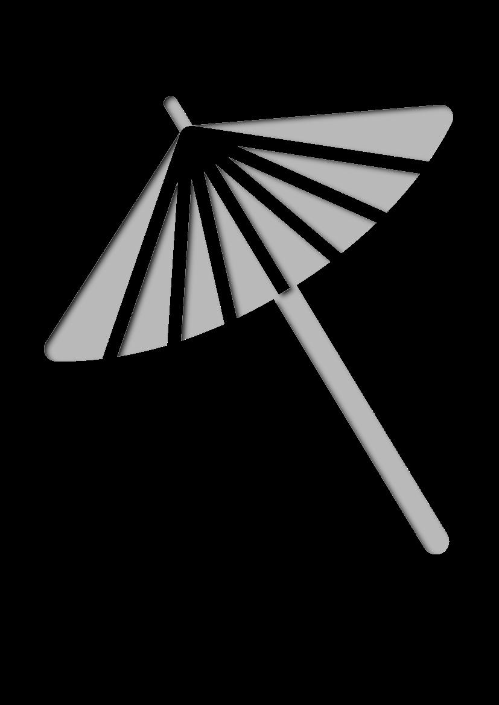 Pochoir Japonais Parapluie