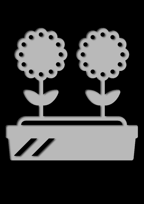 Pochoir Jardinage Pot de fleur