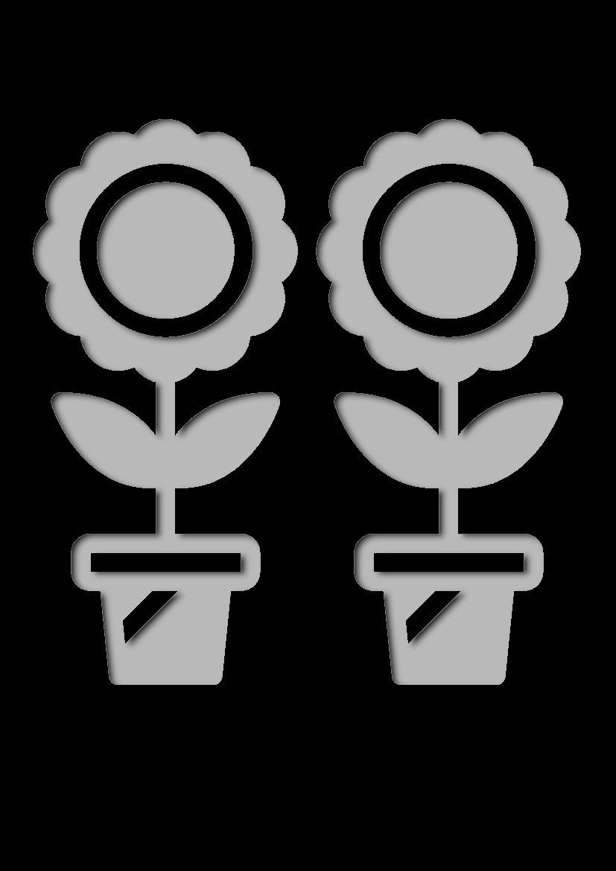 Pochoir Jardinage Fleurs