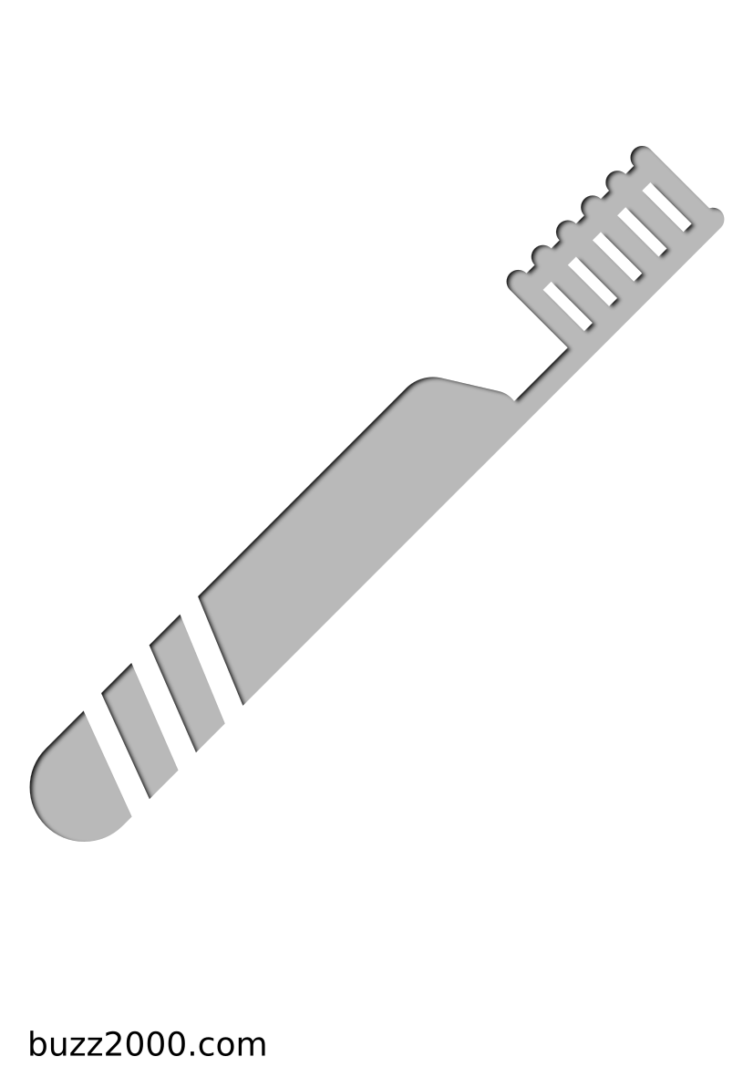 Pochoir Medical Brosse à dents