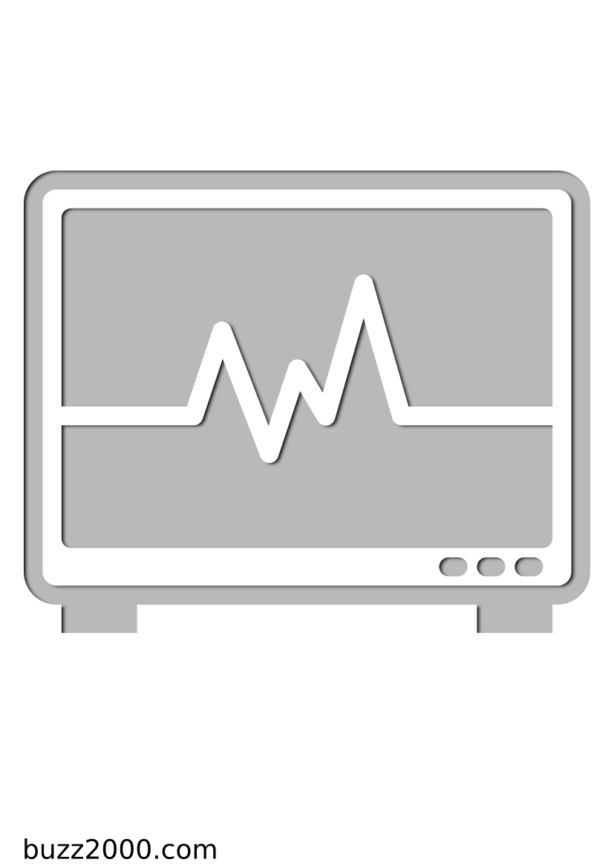 Pochoir Medical Cardiogramme