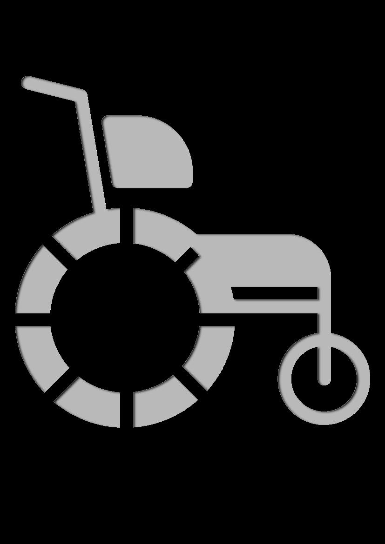 Pochoir Medical Fauteuil roulant