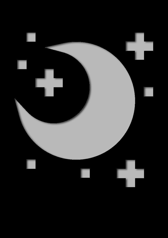 Pochoir Meteo Nuit