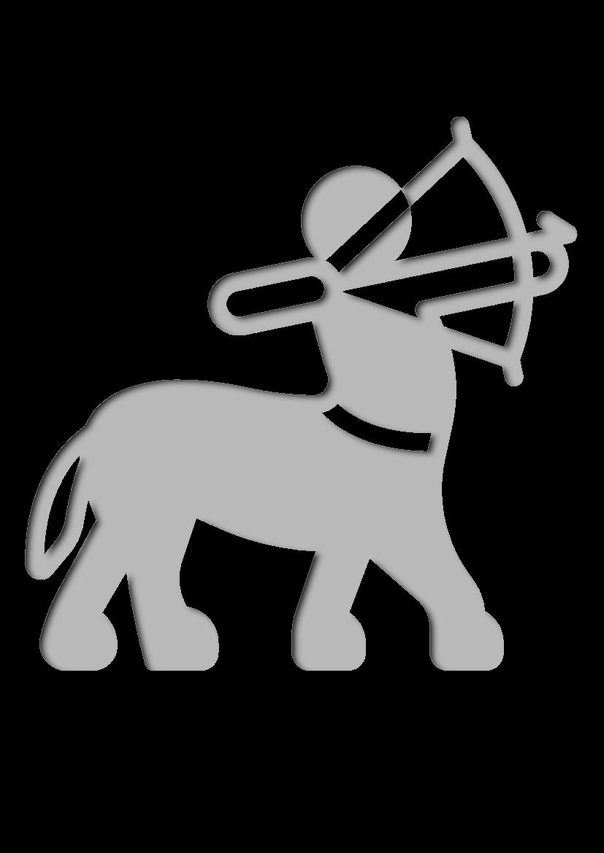 Pochoir Mythologie-grecque Centaure