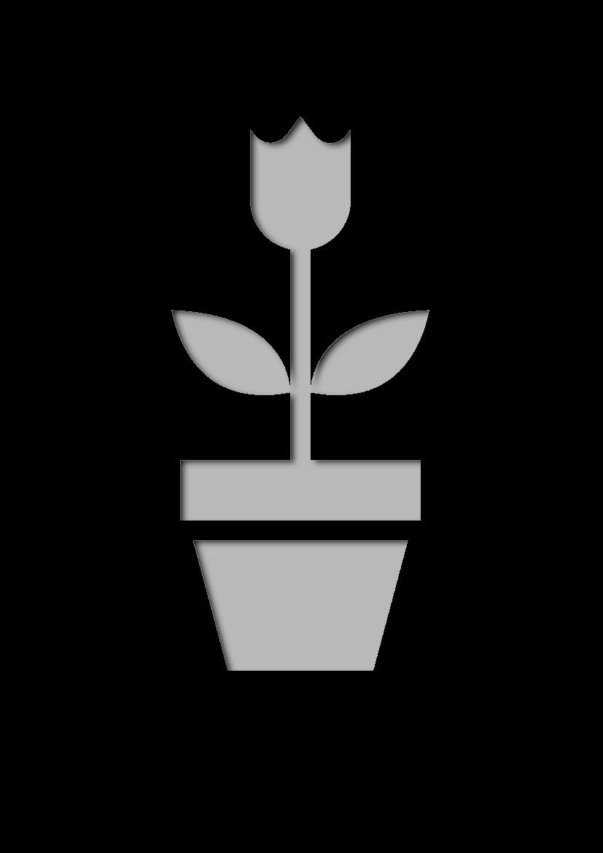 Pochoir Nature Pot de fleur
