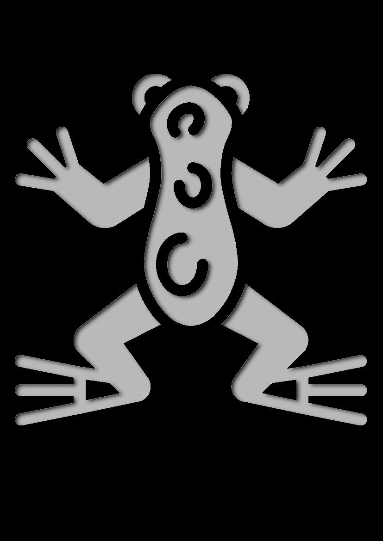 Pochoir Nature La grenouille