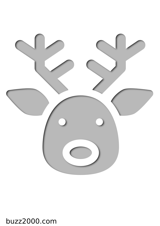 Pochoir Noel Tête de cerf