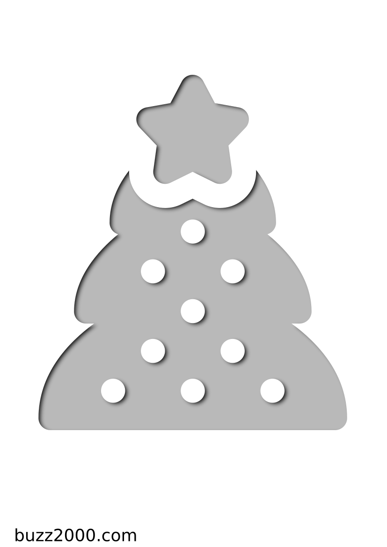 Pochoir Noel Sapin de Noël