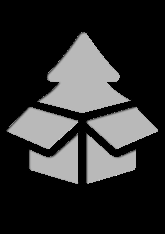 Pochoir Noel Arbre de Noël dans une boîte