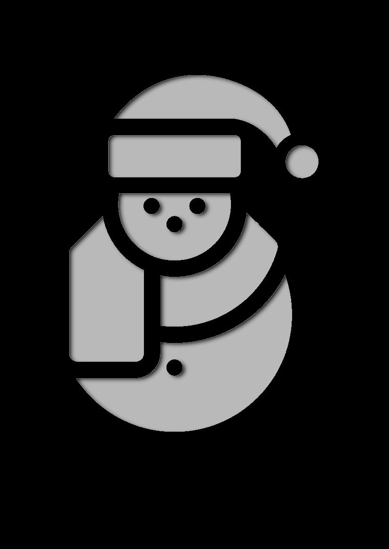 Pochoir Noel Bonhomme de neige