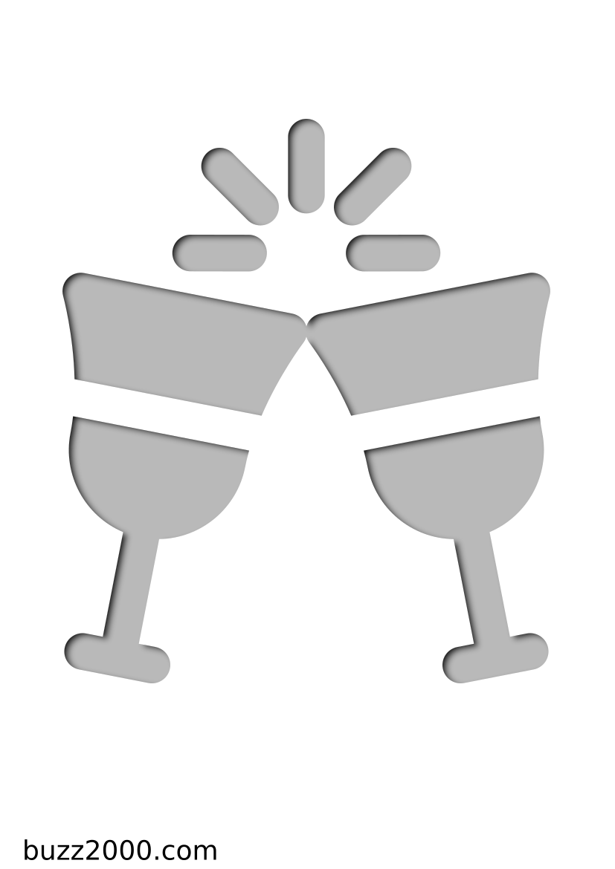 Pochoir Noel Verres à vin