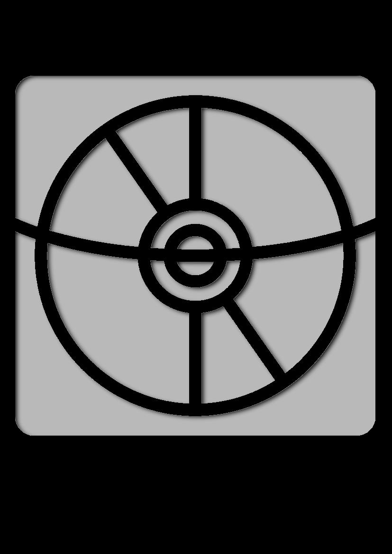 Pochoir Papeterie Disque compact