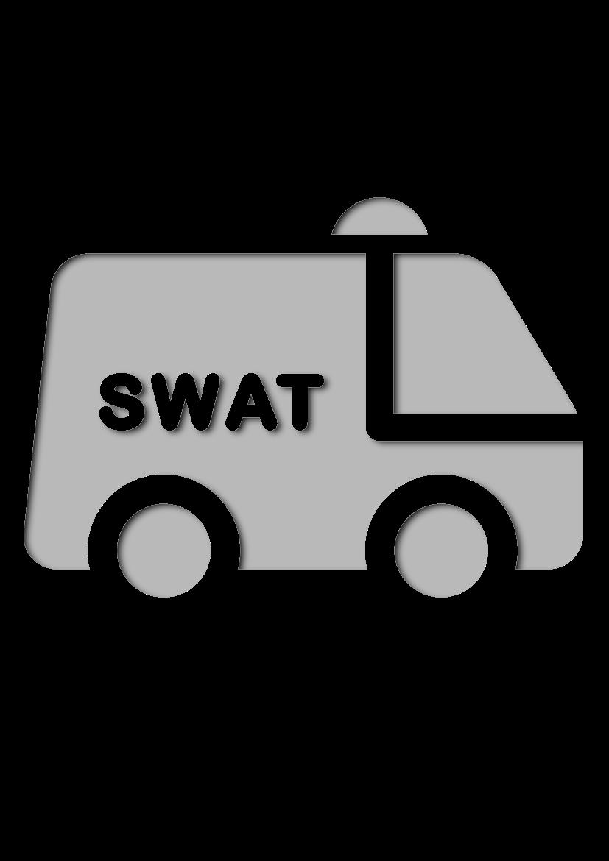 Pochoir Police Swat Van