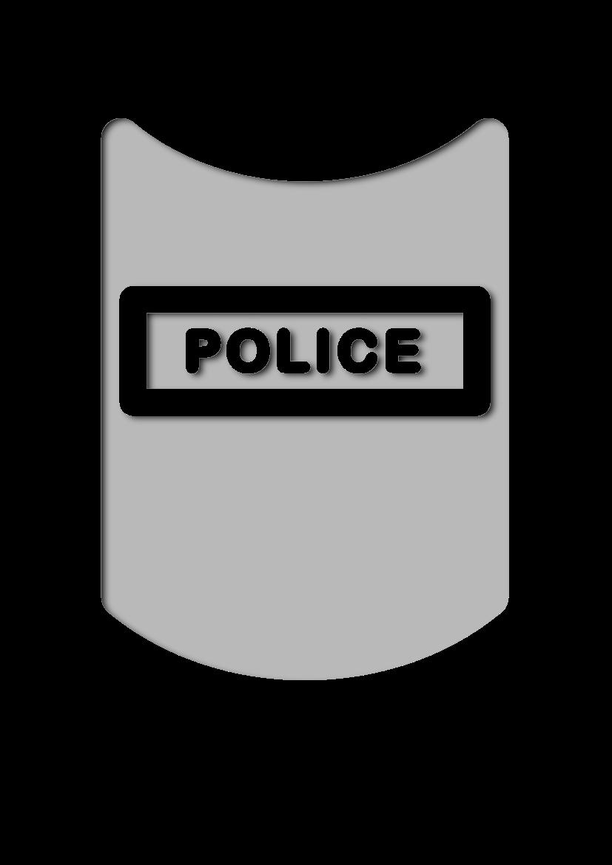 Pochoir Police Bouclier de s�curit�