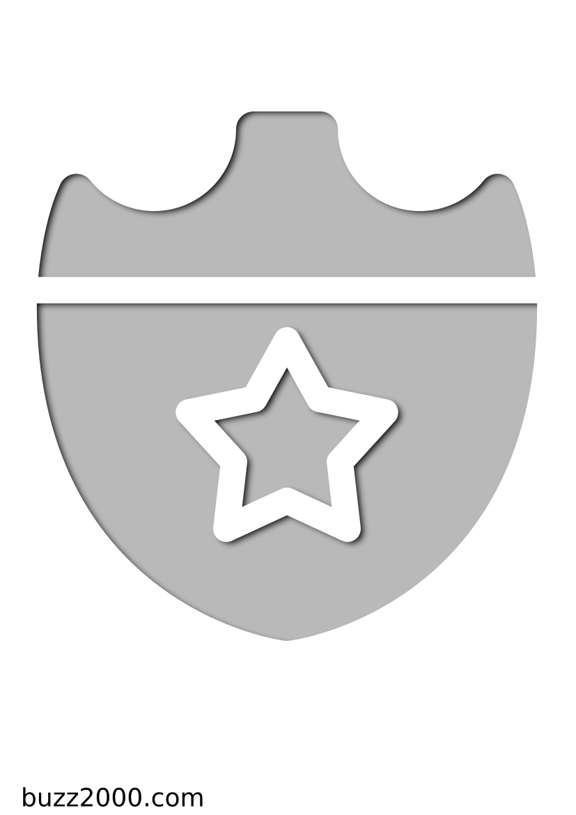 Pochoir Police Badge de s�curit�