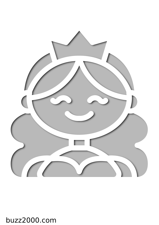 Pochoir Princesse Princesse