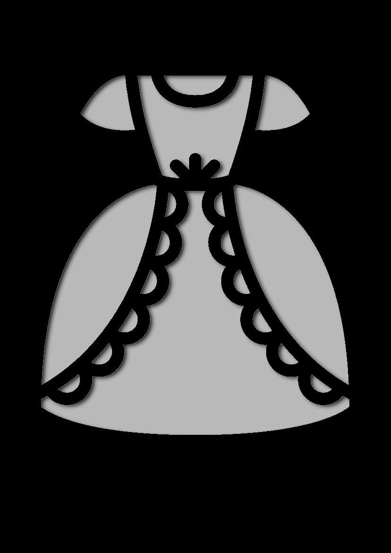 Pochoir Princesse Robe