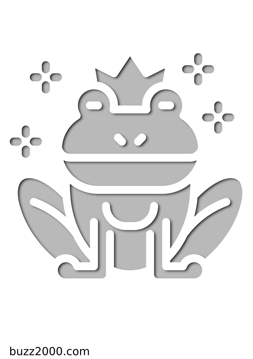 Pochoir Princesse La grenouille