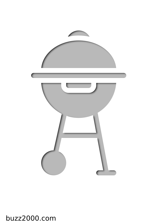 Pochoir Printemps Un barbecue