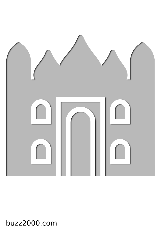 Pochoir Religion Taj Mahal