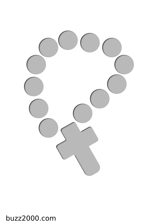 Pochoir Religion Chapelet