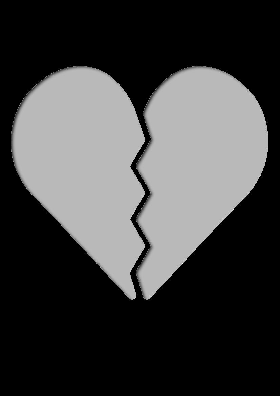 Pochoir Romantique Coeur brisé