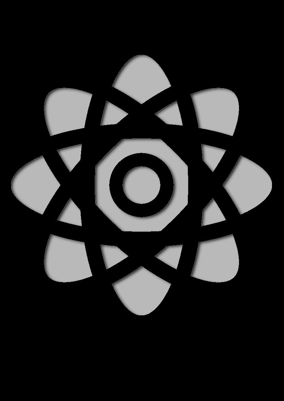 Pochoir Science Atome