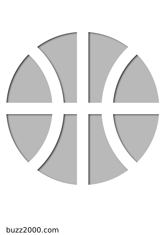 Pochoir Sports Basketball