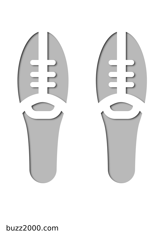 Pochoir Sports Des chaussures