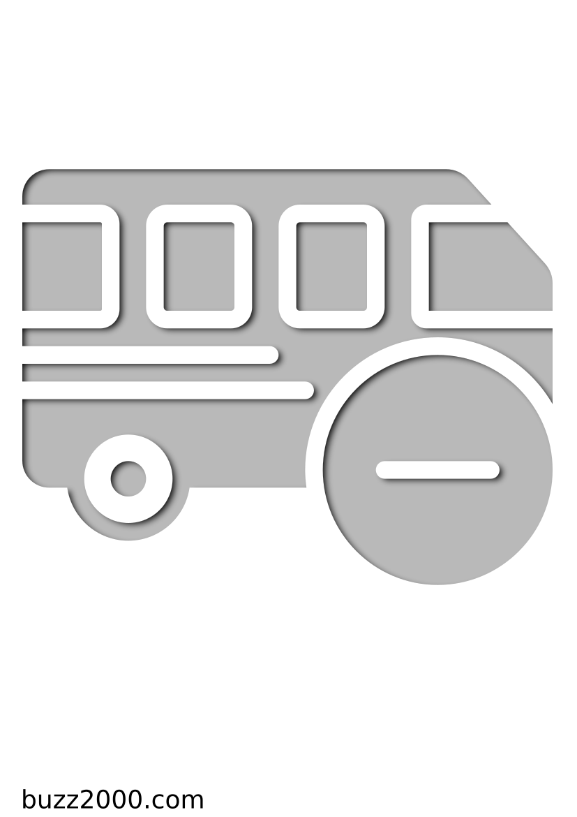 Pochoir Transport Autobus