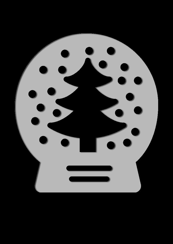 Pochoir Vacances Boule � neige