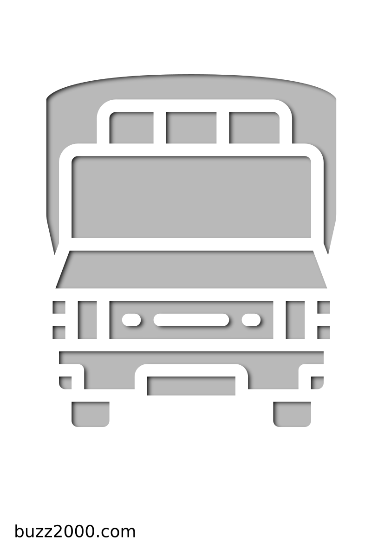 Pochoir Ville Bus scolaire